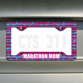 Marathon Mom License Plate Holder