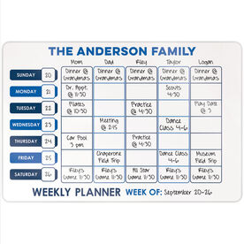 "Personalized 18"" X 12"" Aluminum Room Sign - Personalized Weekly Family Dry Erase Calendar"