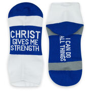 Socrates® Woven Performance Sock - Christ Give Me Strength