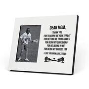Guys Lacrosse Photo Frame - Dear Mom Thank You