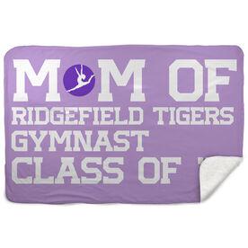 Gymnastics Sherpa Fleece Blanket - Personalized Gymnastics Mom
