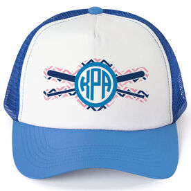 Softball Trucker Hat - Monogram Chevron