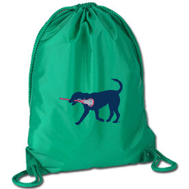Lacrosse Sport Pack Cinch Sack LuLa The LAX Dog (Blue)