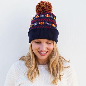 Softball Knit Hat - Snowflake