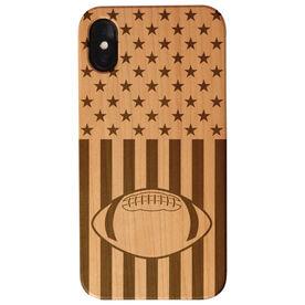 Football Engraved Wood IPhone® Case - USA Football