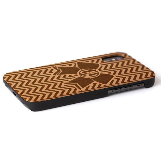 Cheerleading Engraved Wood IPhone® Case - Cheerleading Monogrammed Bow