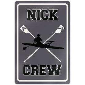 "Crew 18"" X 12"" Aluminum Room Sign Personalized Crew Sign Guy"