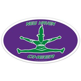 Cheer Oval Car Magnet Personalized Toe Touch