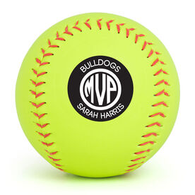 Personalized Softball - MVP Monogram with Name