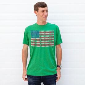 Softball/Baseball T-shirt Short Sleeve Patriotic Baseball