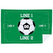 Soccer Premium Blanket - Personalized Soccer Team