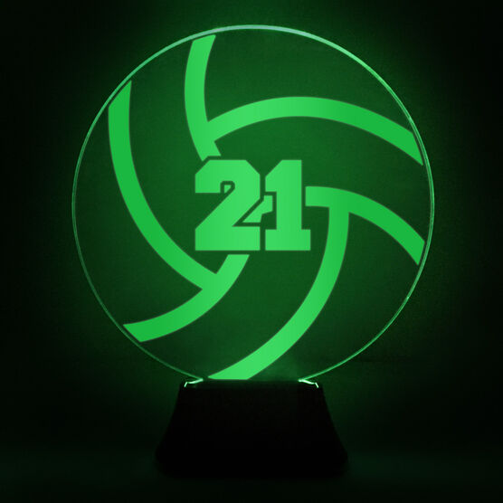 Volleyball Acrylic LED Lamp With Number
