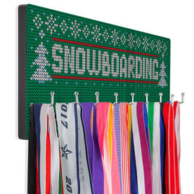 Snowboarding Hooked on Medals Hanger - Christmas Knit