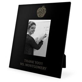 Teacher Engraved Picture Frame - Best Teacher Ever Apple