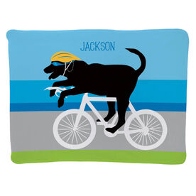 Triathlon Baby Blanket - Toby The Triathlon Dog