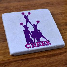 Cheer Pyramid - Stone Coaster