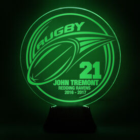 Rugby Acrylic LED Lamp Pass With 3 Lines and Number