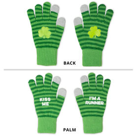 Gloves with Touchscreen Fingers - Kiss Me I'm a Runner