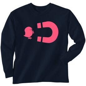 Football Tshirt Long Sleeve Football Chick Magnet