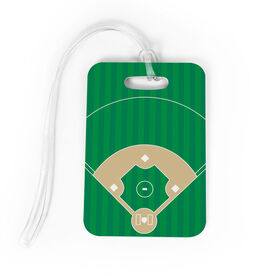 Baseball Bag/Luggage Tag - Baseball Field