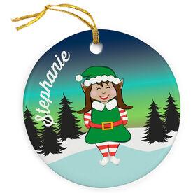 Figure Skating Porcelain Ornament Christmas Elf