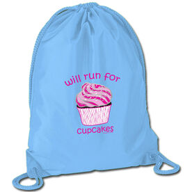 Running Sport Pack Cinch Sack Will Run For Cupcakes
