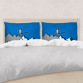 Skiing Pillowcase - Personalized Airborne