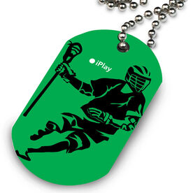 Lacrosse Printed Dog Tag Necklace iPlay Lacrosse (Male)
