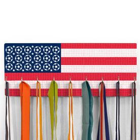Soccer Hooked on Medals Hanger - Patriotic Soccer