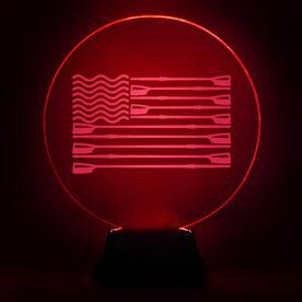 Crew Acrylic LED Lamp USA Flag