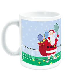 Tennis Coffee Mug Santa