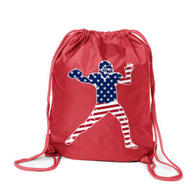 Football Sport Pack Cinch Sack - Football Stars and Stripes Player