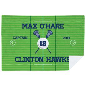 Guys Lacrosse Premium Blanket - Personalized Lacrosse Captain