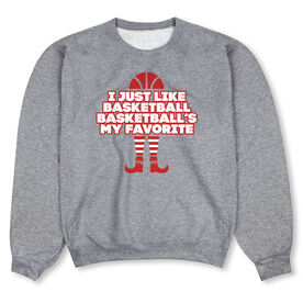 Basketball Crew Neck Sweatshirt  - Basketball's My Favorite