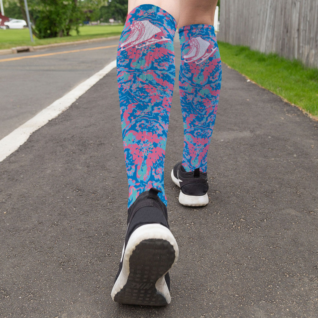 ChalkTalkSPORTS Figure Skating High Print Legging Skates Before Dates