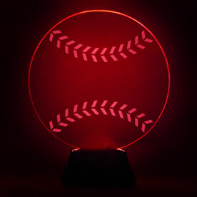 Baseball Acrylic LED Lamp Hardball