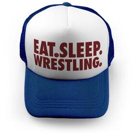 Wrestling Trucker Hat - Eat Sleep Wrestling
