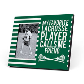 Guys Lacrosse Photo Frame - My Favorite Player Calls Me