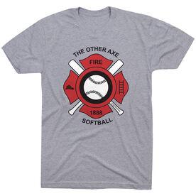 Softball Tshirt Short Sleeve Softball The Other Axe
