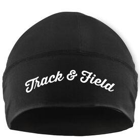 Run Technology Beanie Performance Hat - Track & Field Script