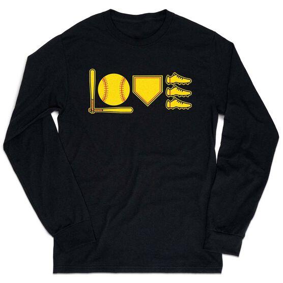 Softball Tshirt Long Sleeve - Love To Play