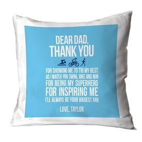 Triathlon Pillow Dear Dad