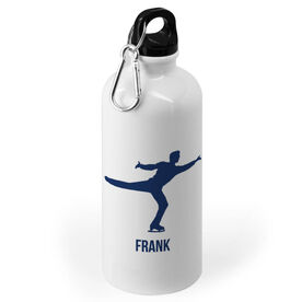 Figure Skating 20 oz. Stainless Steel Water Bottle - Figure Skating Male Silhouette