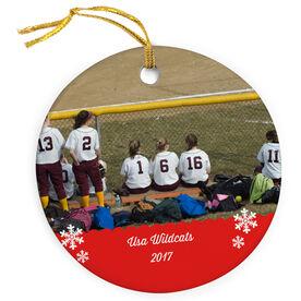 Softball Porcelain Ornament Custom Personalized Photo