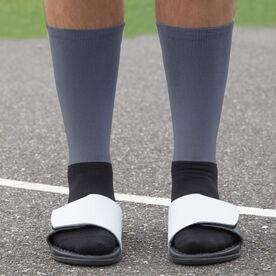 Hockey Printed Mid-Calf Socks - Eat Sleep Hockey