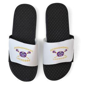 White Slide Sandal - Oconomowoc Lacrosse Logo