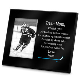 Hockey Personalized Photo Frame Dear Mom Thank You