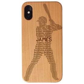 Baseball Engraved Wood IPhone® Case - Personalized Baseball Words