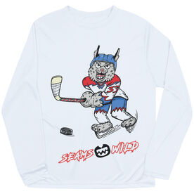 Seams Wild Hockey Long Sleeve Tech Tee - Bobby Ice