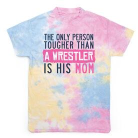 Wrestling Short Sleeve T-Shirt - Tougher Than A Wrestler Mom Tie Dye
